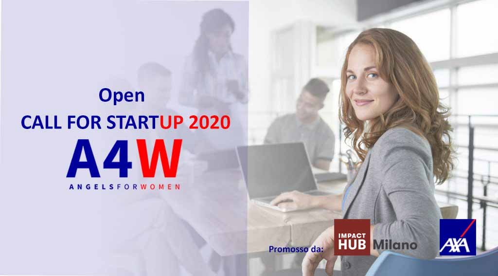 Open Call for startup 2020 di Angels4Women