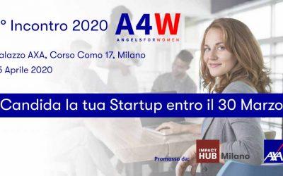 Secondo Incontro 2020 Angels4Women – Candida la tua Startup entro il 30 Marzo