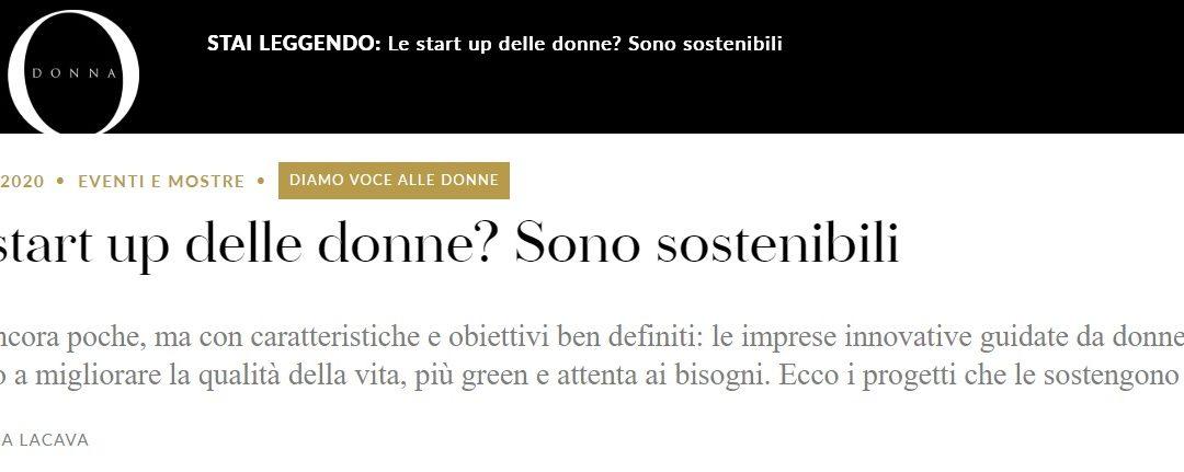 """Articolo su IO Donna: """"Le Startup delle Donne? Sono sostenibili"""""""