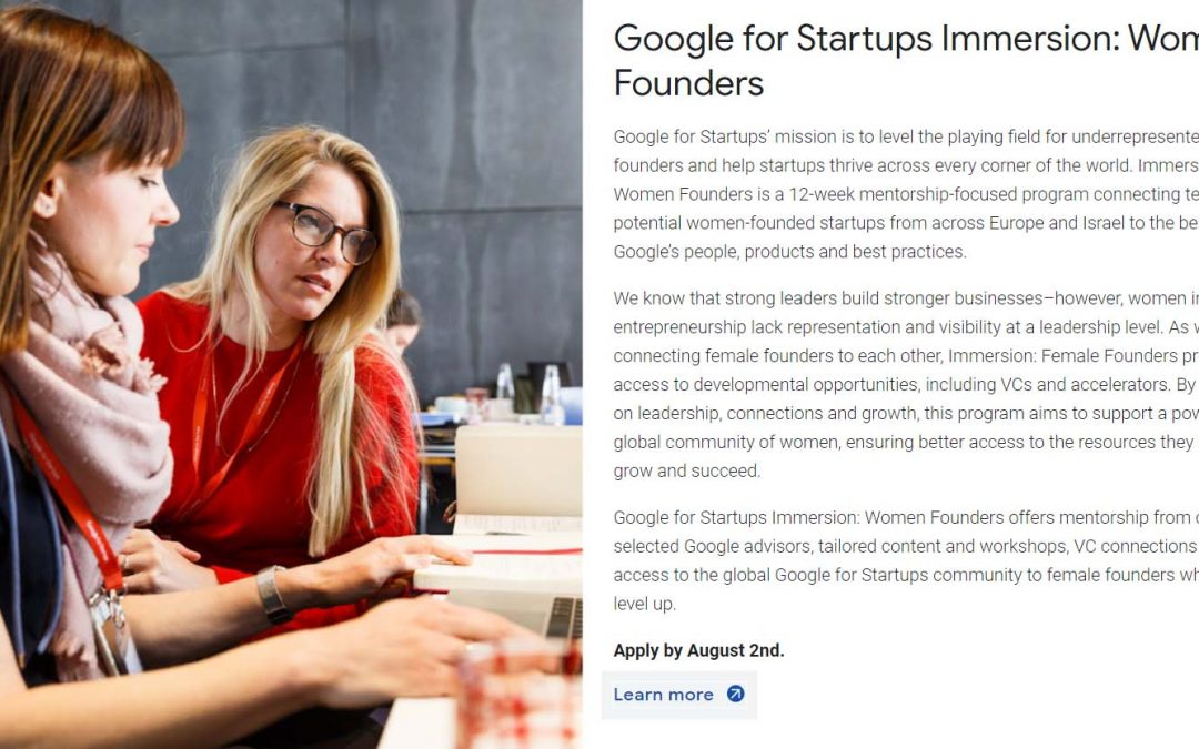 google-for-startups-immersion-women-founders