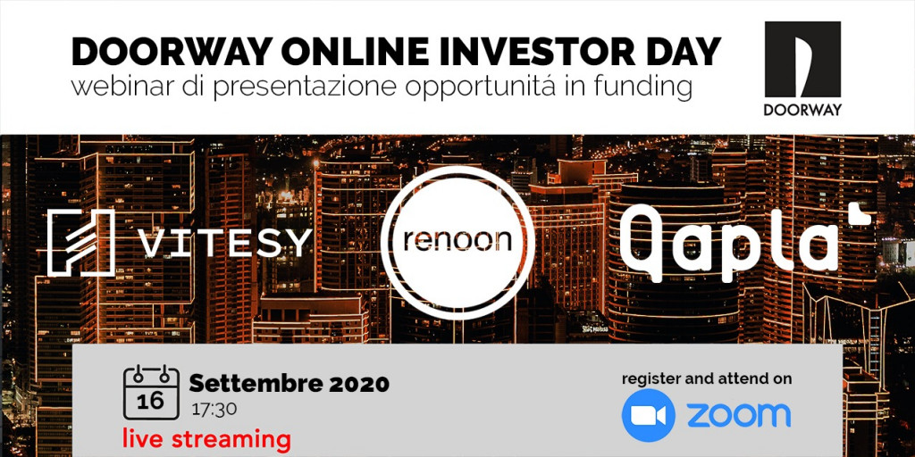 Doorway online investor day | 16 Settembre 2020