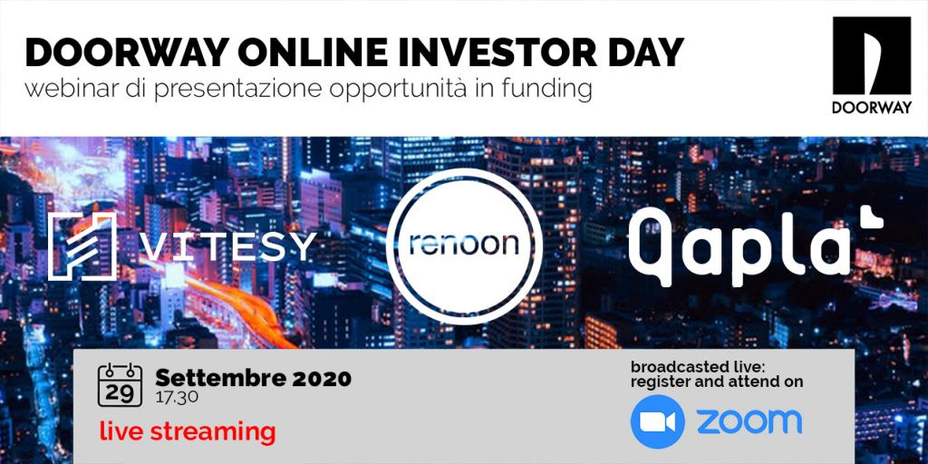 Doorway online Investor Day | 29 Settembre 2020