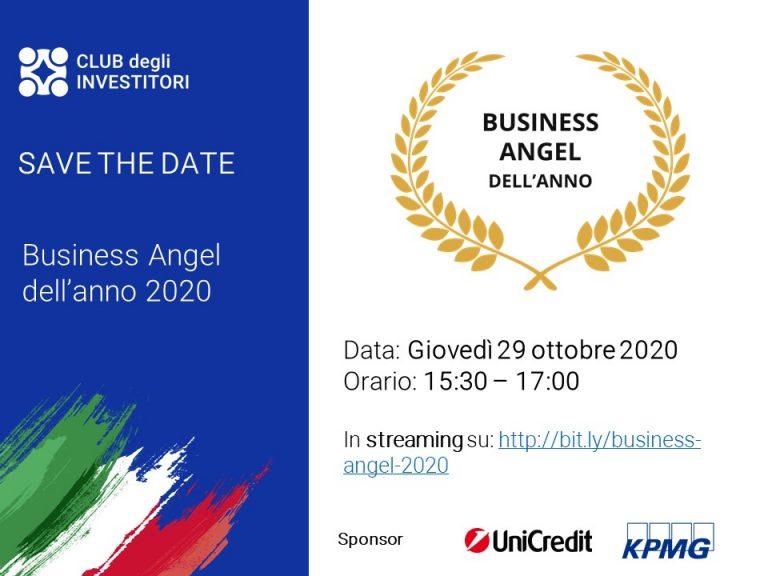 Premio Business Angel dell'Anno 2020 + Presentazione del Report pubblico sull'impatto deiBusiness Angelitaliani 2020