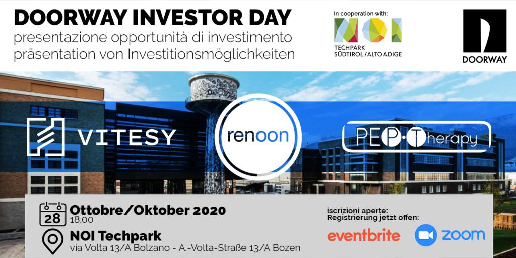 Doorway Investor Day Bolzano | 28 Ottobre 2020