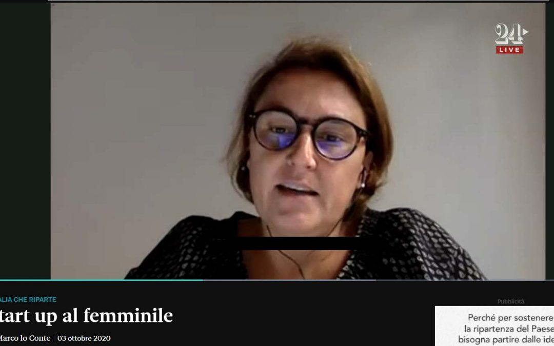 Startup al femminile | Lorenza Morandini su Il Sole  24 Ore