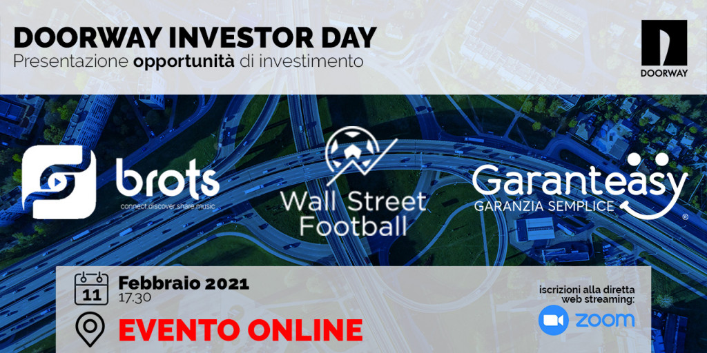 Doorway Investor Day | 11 Febbraio 2021 – 17:30