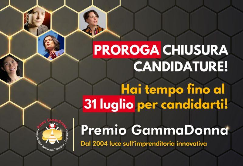 Premio GammaDonna 2021: prorogate le iscrizioni fino al 31 Luglio